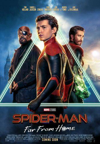 affiche film spider-man far from home - Véo - Château de Pinsaguel - cinéma plein air