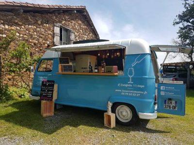 photo wine truck guinguette du ciné - Véo - Château de Pinsaguel - cinéma plein air